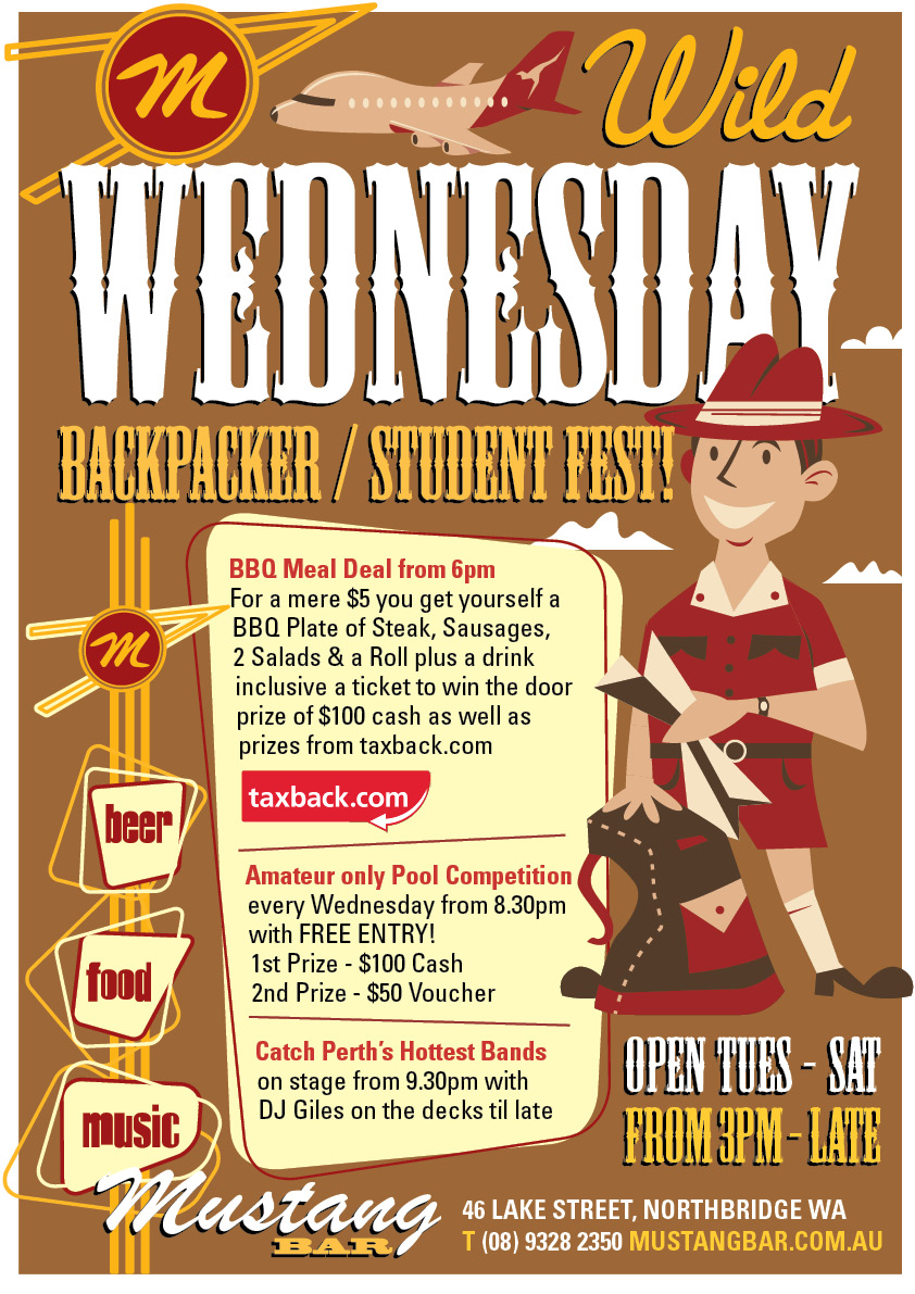 Wild Wednesday Backpacker & Student Fest!!