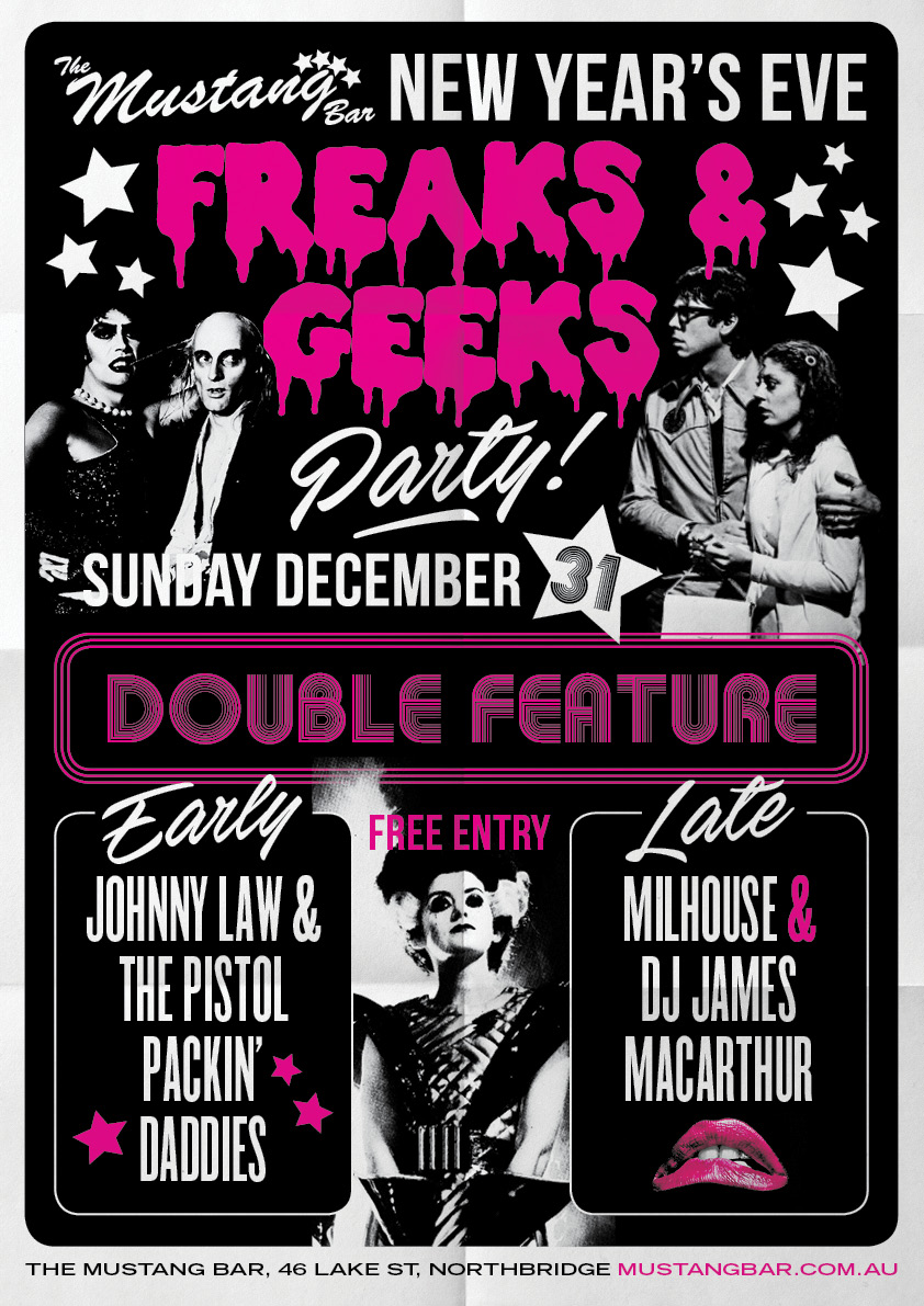 New Year's Eve Freaks & Geeks!