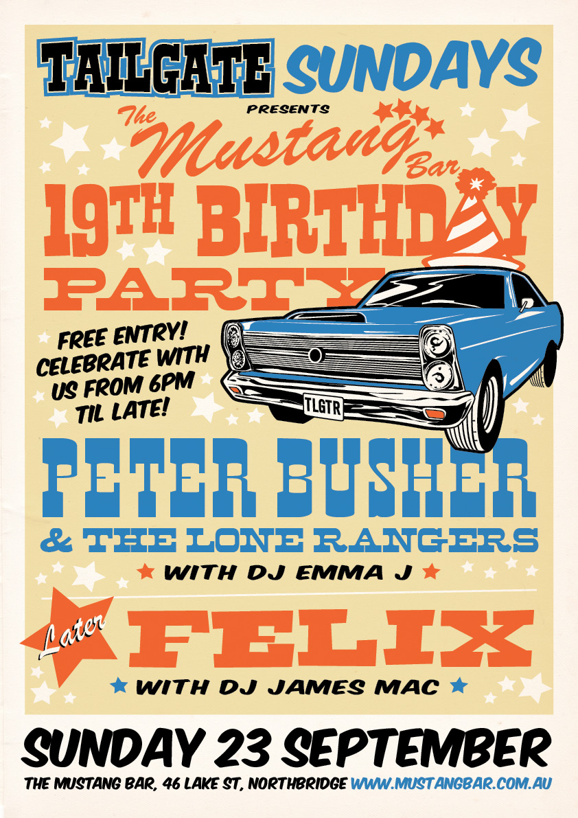 The Mustang Bar's 19th Birthday Celebrations!